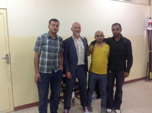 Teachers at Zarqa with classes of 50