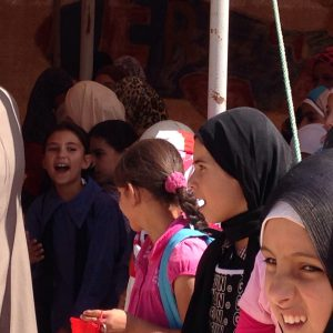 Some of the six hundred thousand at Za'atari