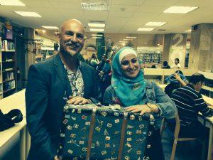 With Farah Samman - a fab translator and communicator